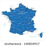 france map   Shutterstock .eps vector #140834917