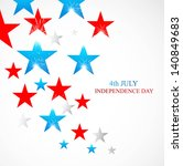 4th july stars of american...   Shutterstock .eps vector #140849683