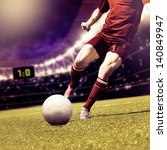 soccer or football player... | Shutterstock . vector #140849947