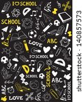 white and yellow school and... | Shutterstock .eps vector #140857573