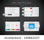 web price shop panel with space ... | Shutterstock .eps vector #140863237
