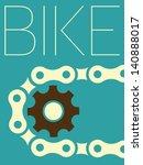 vector minimal design   bike | Shutterstock .eps vector #140888017