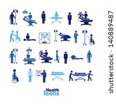 health icons over white... | Shutterstock .eps vector #140889487