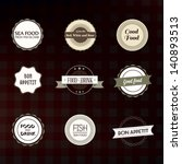 label set for cafe and... | Shutterstock .eps vector #140893513