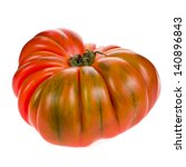 big red tomato raf close up... | Shutterstock . vector #140896843