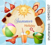 summer holiday illustration | Shutterstock .eps vector #140902507