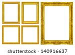 the antique gold frame on the... | Shutterstock . vector #140916637