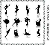 many dancer design  vector | Shutterstock .eps vector #140917393