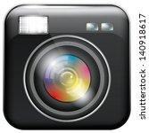 vector app icon with camera...   Shutterstock .eps vector #140918617