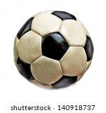 worn soccer ball isolated on... | Shutterstock . vector #140918737