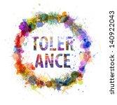 tolerance concept  watercolor... | Shutterstock . vector #140922043