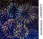 backgroung with fireworks  eps... | Shutterstock .eps vector #140930077