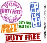 Set Of Duty Free Grunge Rubber...