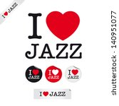 i love jazz  font type with... | Shutterstock .eps vector #140951077
