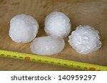 Giant Hailstones Measuring 5cm...