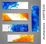 set of bright abstract paper... | Shutterstock .eps vector #140978143