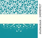 wedding card or invitation with ... | Shutterstock . vector #140989927
