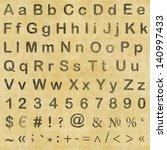 letters  numbers and symbols in ... | Shutterstock . vector #140997433