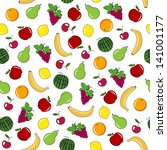 fruit and berry seamless... | Shutterstock . vector #141001177