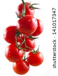 Tomatoes Cherry Isolated On...