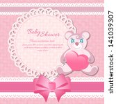 baby shower  birthday card | Shutterstock .eps vector #141039307