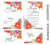 wedding invitation  thank you... | Shutterstock .eps vector #141059443