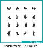 hands gestures icon set. vector ... | Shutterstock .eps vector #141101197