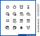 date and time icons set. vector ... | Shutterstock .eps vector #141101227