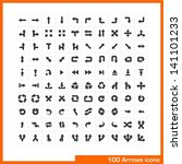 100 arrows icons set. vector... | Shutterstock .eps vector #141101233