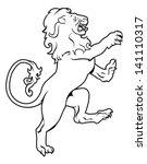 Illustration Of A Heraldic Lio...
