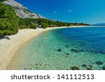 amazing adriatic sea bay with... | Shutterstock . vector #141112513
