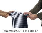 symbolic fight over child | Shutterstock . vector #141118117