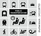 public transportation set | Shutterstock .eps vector #141118753