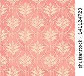 pink vintage wallpaper with... | Shutterstock .eps vector #141124723