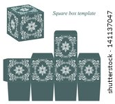 green box template with white... | Shutterstock .eps vector #141137047