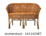 Old Rattan Sofa Isolated On...
