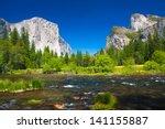 yosemite valley with el captain ... | Shutterstock . vector #141155887