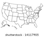 united states of america | Shutterstock . vector #14117905