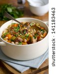 white bean and pasta stew with... | Shutterstock . vector #141183463