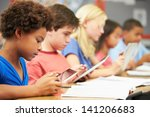 pupils in class using digital... | Shutterstock . vector #141206683