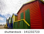 colourful huts on muizenburg... | Shutterstock . vector #141232723