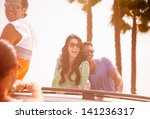 group of young people at venice ... | Shutterstock . vector #141236317