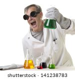 a crazy mad scientist in his... | Shutterstock . vector #141238783