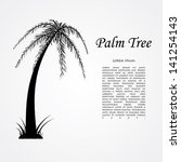 silhouette of the palm tree. ... | Shutterstock . vector #141254143