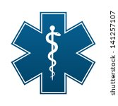 medical symbol of the emergency ... | Shutterstock .eps vector #141257107