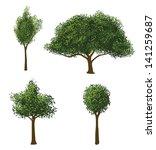 vector trees set | Shutterstock .eps vector #141259687
