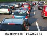 traffic jam on a freeway   Shutterstock . vector #141262873