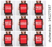 collage of shopping related... | Shutterstock . vector #141277357