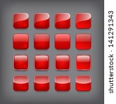 set of blank red buttons for... | Shutterstock .eps vector #141291343