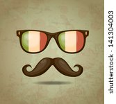 italian hipster. vector... | Shutterstock .eps vector #141304003